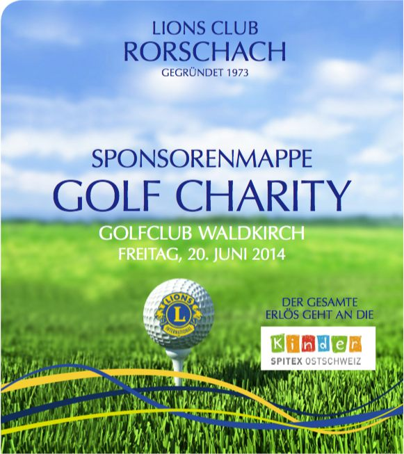 Sponsorenmappe Golf Charity - Lions Club Rorschach